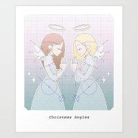 Christmas Angles Art Print