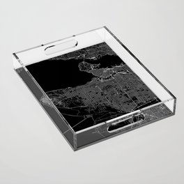 Vancouver Black Map Acrylic Tray