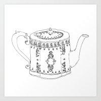 Swanky Teapot Art Print