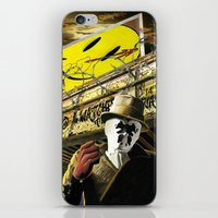watchmen iPhone & iPod Skins featuring Who Watches The Watchmen? by SB Art Productions
