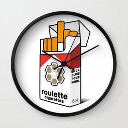 Roulette Cigarettes Wall Clock