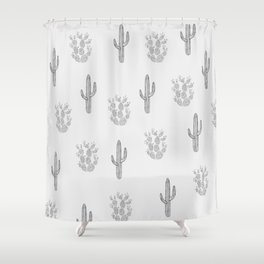 Cactus Pattern Shower Curtain