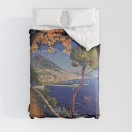 Salerno Italy vintage summer travel ad Comforters