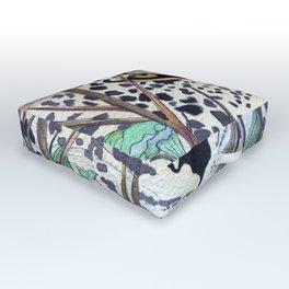 Never Resting - Leopard by Maureen Donovan Outdoor Floor Cushion