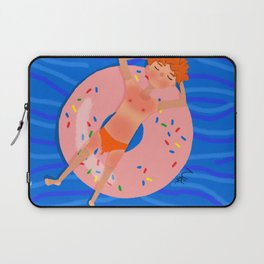 Summer swimming in the pool Laptop Sleeve