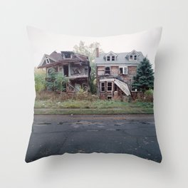 Abandoned Houses Throw Pillow