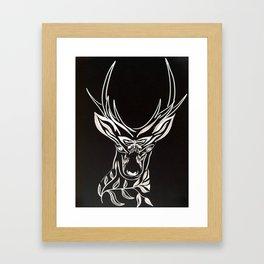 Black Deer Framed Art Print