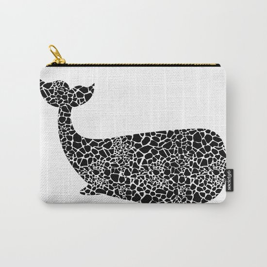 Whale with giraffe pattern Carry-All Pouch