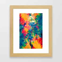 Summer Swirl Framed Art Print