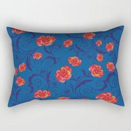 Abstract Rainbow Roses Rectangular Pillow