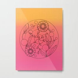 Mandala in the sunset Metal Print