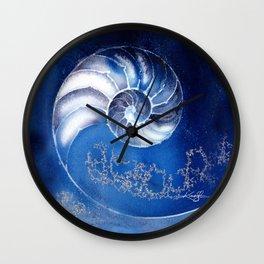 Nautilus Shell 3 by Kathy Morton Stanion Wall Clock