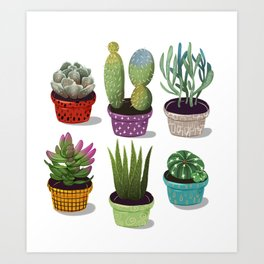 Cactus Collection Art Print