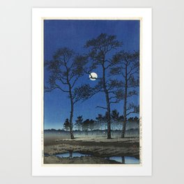 """Winter Moon at Toyamagahara"" by Hasui Kawase, 1931 Art Print"