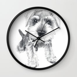 Schnozz the Schnauzer Wall Clock
