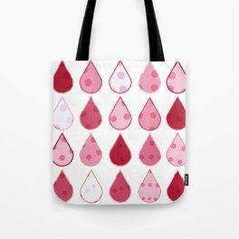 Decorative Drops of pinks and white Pattern Tote Bag