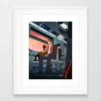 captain Framed Art Prints featuring Captain by beccjohnson