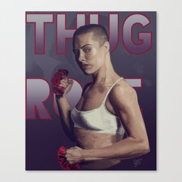 Thug Rose Canvas Print