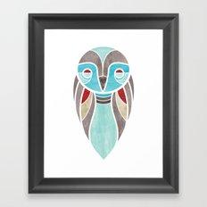 owl colour Framed Art Print
