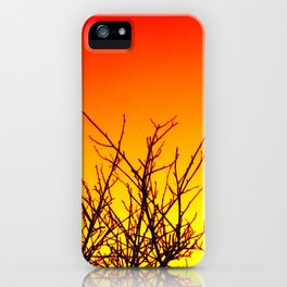Sunset Twigs iPhone Case