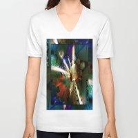 big bang V-neck T-shirts featuring The Big Bang by Robin Curtiss