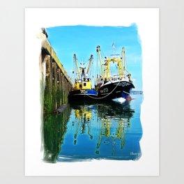 Brixham Trawlers Art Print