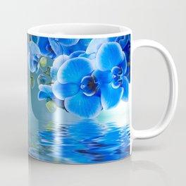 Blue Orchids Coffee Mug