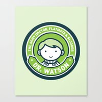 john green Canvas Prints featuring Cute John Watson - Green by mydeardear