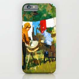 Stefan Luchian Washerwoman iPhone Case