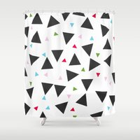 confetti Shower Curtains featuring Confetti by In Sight