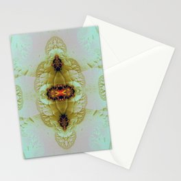 Antique Insect Jewel 4 Stationery Cards