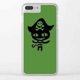 Chloe Pirate Cat Clear iPhone Case
