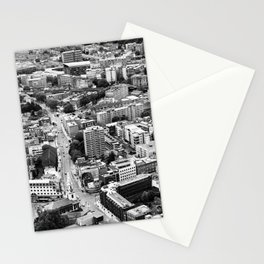 London Urban Cityscape Monochrome Stationery Cards