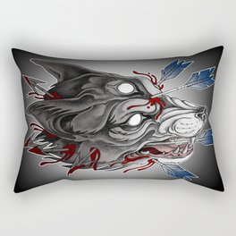 Big bad werewolf Rectangular Pillow