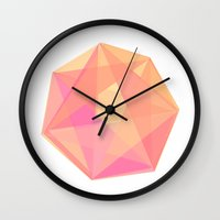 gem Wall Clocks featuring Gem by Nic Squirrell