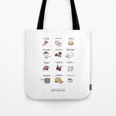Foods of Gilmore Girls Tote Bag