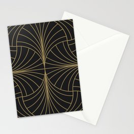 Diamond Series Inter Wave Gold on Charcoal Stationery Cards