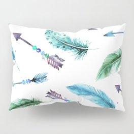Autumn Hunt Arrows + Feathers Pillow Sham