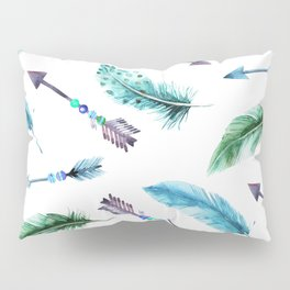 Autumn Hunt Arrows + Feathers Pillow Sham