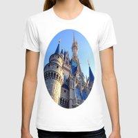 castle T-shirts featuring Castle by Jillian Stanton