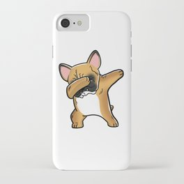 Funny Fawn French Bulldog Dabbing iPhone Case
