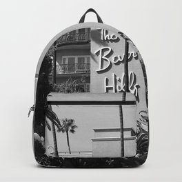 Beverly Hills Hotel, California black and white photograph / black and white photography Backpack