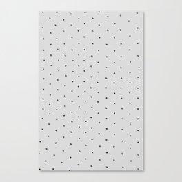 Gray Polka Dot Canvas Print