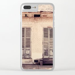 Old Shutters Clear iPhone Case