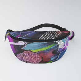 Dark Reef of Currant and Indigo Fanny Pack