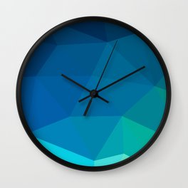 Blue 02 Wall Clock