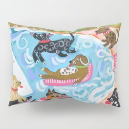 Dogs at Play Pillow Sham