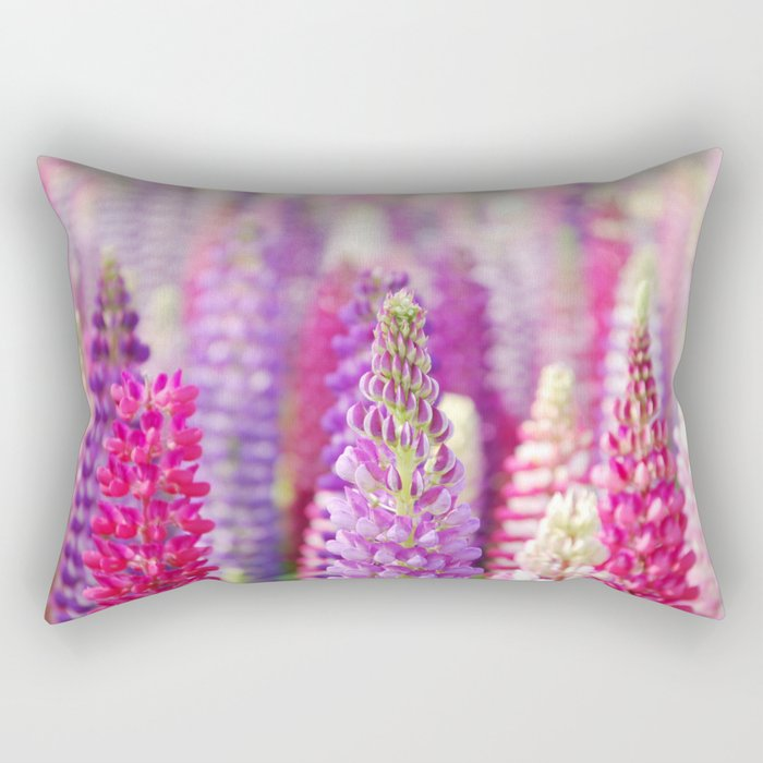 Pink & Purple FLowerS Rectangular Pillow