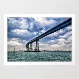 Coronado Bridge Art Print