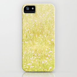Sweet Light Wild Flowers iPhone Case